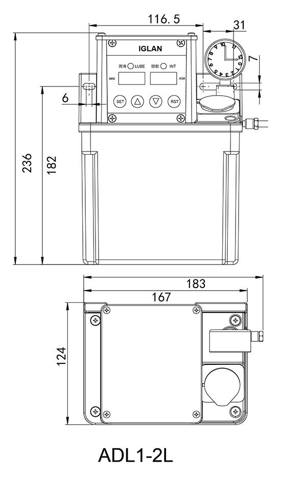 ADL-2L-数显控制安装尺寸