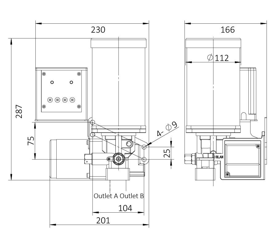 AHG1安装尺寸