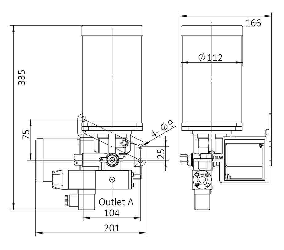 AHG4-安装尺寸