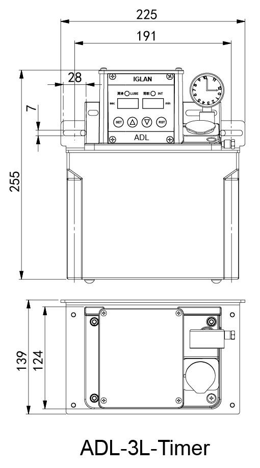 ADL-3L-timer安装尺寸
